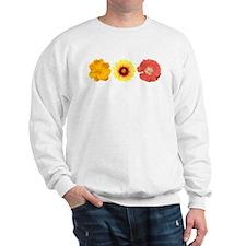 Three Flowers - Warm Colors Sweatshirt