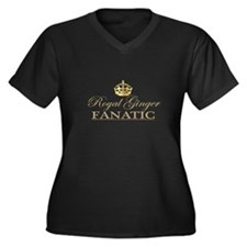 Royal Ginger Fanatic Women's Plus Size V-Neck Dark