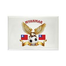 Myanmar Football Design Rectangle Magnet