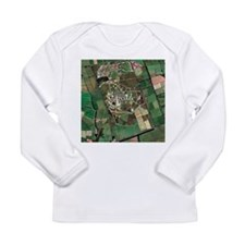 Menwith Hill spy base, aerial image - Long Sleeve