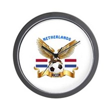 Netherlands Football Design Wall Clock