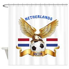 Netherlands Football Design Shower Curtain