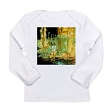 Oil refinery at night - Long Sleeve Infant T-Shirt