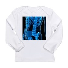 Lower spine, artwork - Long Sleeve Infant T-Shirt