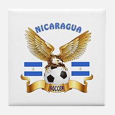Nicaragua Football Design Tile Coaster
