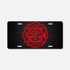 Fire Dept Aluminum License Plate