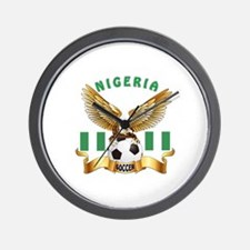 Nigeria Football Design Wall Clock