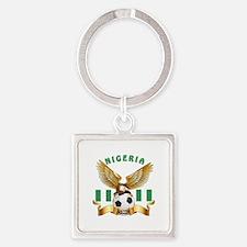 Nigeria Football Design Square Keychain