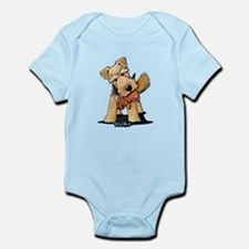 Welsh Terrier With Squirrel Infant Bodysuit