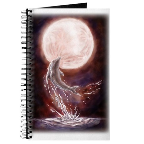 """Dolphin jumping under the moon"" Journal"