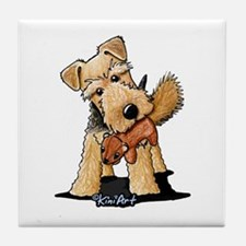Welsh Terrier With Squirrel Tile Coaster