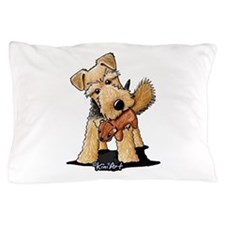 Welsh Terrier With Squirrel Pillow Case