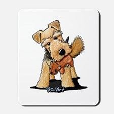 Welsh Terrier With Squirrel Mousepad