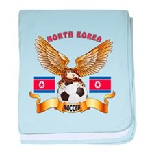 North Korea Football Design baby blanket