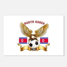 North Korea Football Design Postcards (Package of