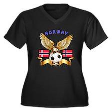 Norway Football Design Women's Plus Size V-Neck Da
