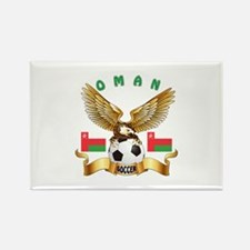 Oman Football Design Rectangle Magnet