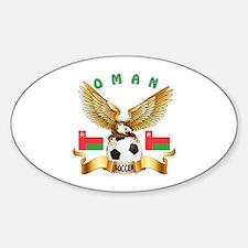 Oman Football Design Sticker (Oval)
