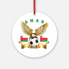 Oman Football Design Ornament (Round)