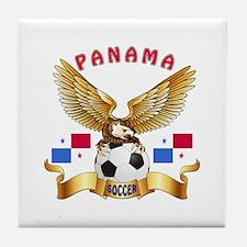Panama Football Design Tile Coaster