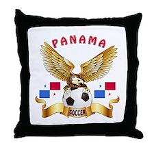 Panama Football Design Throw Pillow