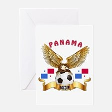 Panama Football Design Greeting Card