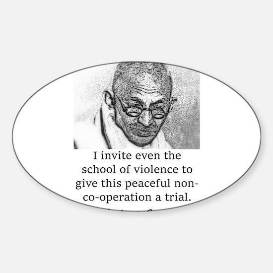 I Invite Even The School Of Violence - Mahatma Gan