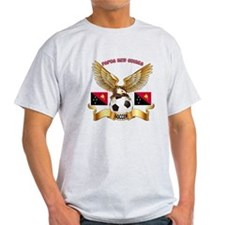 Papua New Guinea Football Design T-Shirt