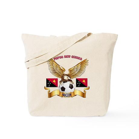 Papua New Guinea Football Design Tote Bag