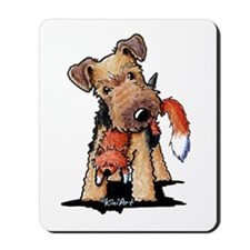 Welsh Terrier With Fox Mousepad