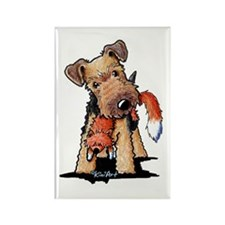Welsh Terrier With Fox Rectangle Magnet