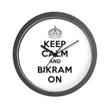 Keep Calm & Bikram On Wall Clock