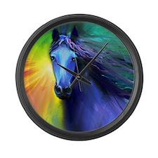 Unique Horse Large Wall Clock