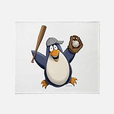 Baseball Penguin Throw Blanket