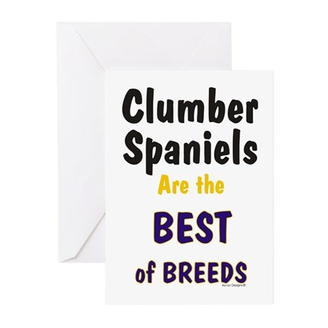 Clumber Spaniel Best Breed Greeting Cards (Package