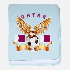 Qatar Football Design baby blanket