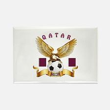Qatar Football Design Rectangle Magnet