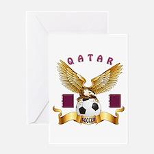 Qatar Football Design Greeting Card
