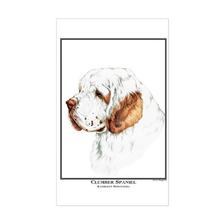 Clumber Spaniel Edition Rectangle Sticker