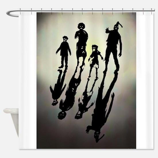Zombie Family Values Shower Curtain