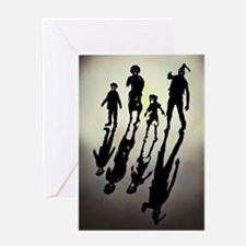 Zombie Family Values Greeting Card