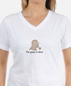 the game is afoot Sherlock Holmes mystery tee Wome