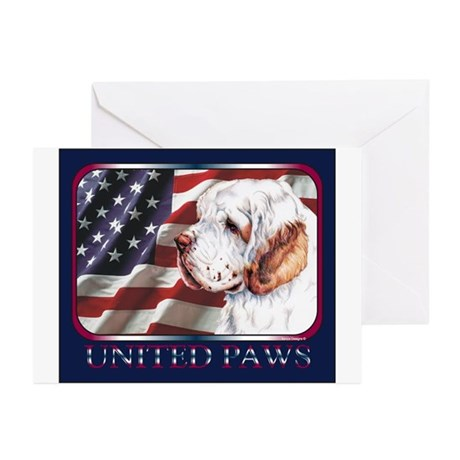 Clumber Spaniel United Paws Greeting Cards (Packag