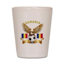 Romania Football Design Shot Glass