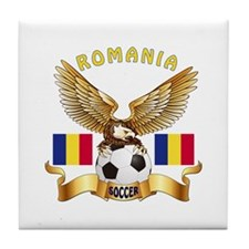 Romania Football Design Tile Coaster