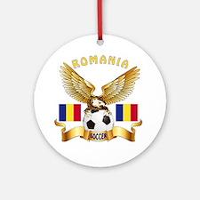 Romania Football Design Ornament (Round)