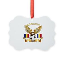 Romania Football Design Ornament