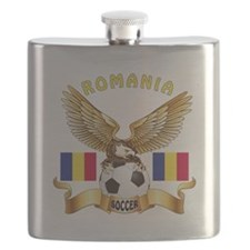 Romania Football Design Flask