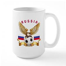 Russia Football Design Mug