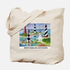 North Carolina lighthouses Tote Bag